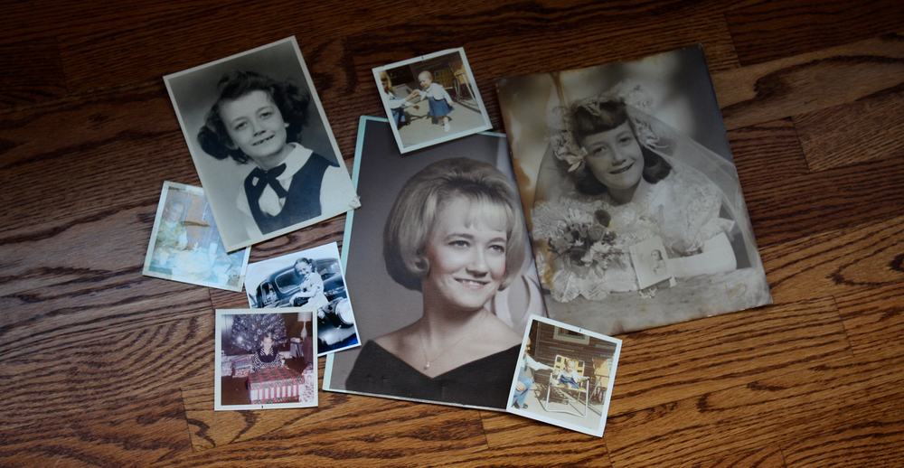 old family photos are a great way to prompt memory sharing about a lost loved one when collecting stories for a life tribute book