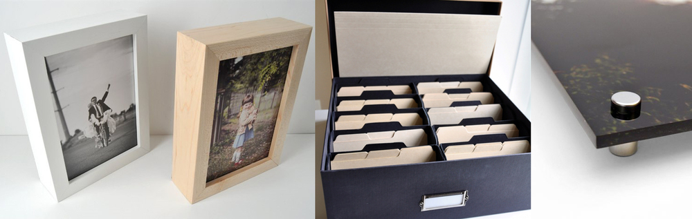 photo storage boxes and other photo display ideas go beyond creating personal history books to honor lost loved ones and preserve family history