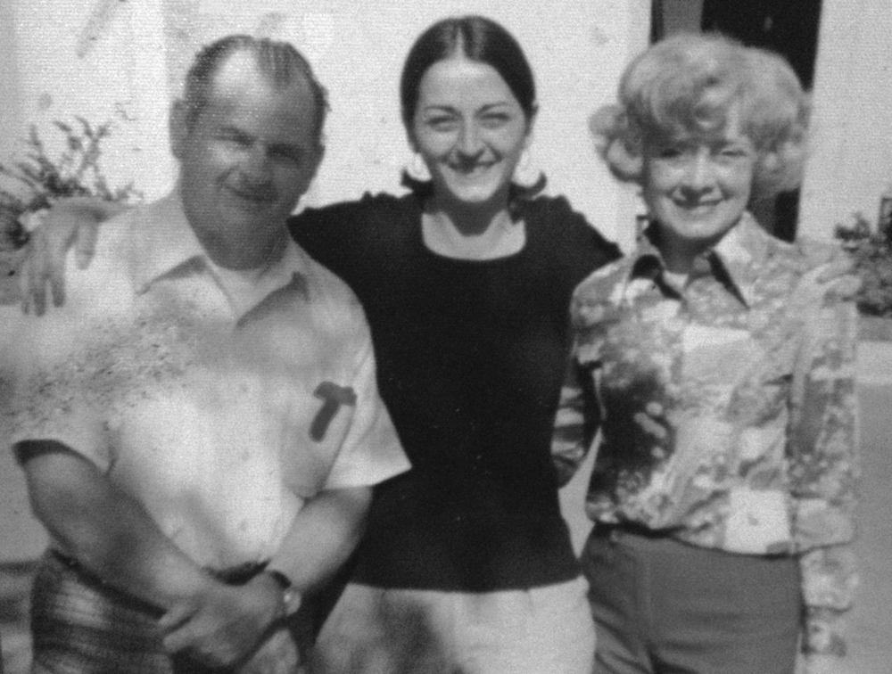 The family behind the red sauce: the writer's mom, Darice, in her mid-twenties, with her parents, Martin and Veronica Smith. Circa 1975
