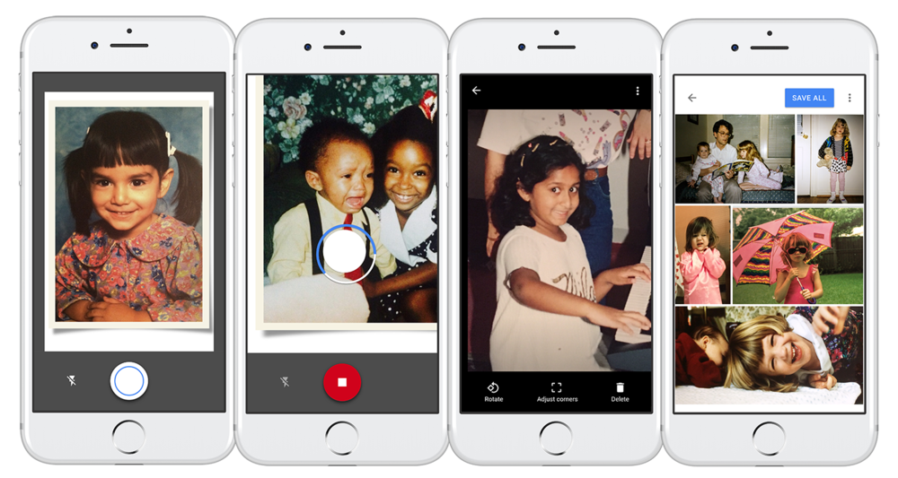 The new Google PhotoScan app allows users to digitally capture their old family photos with ease—and without glare.