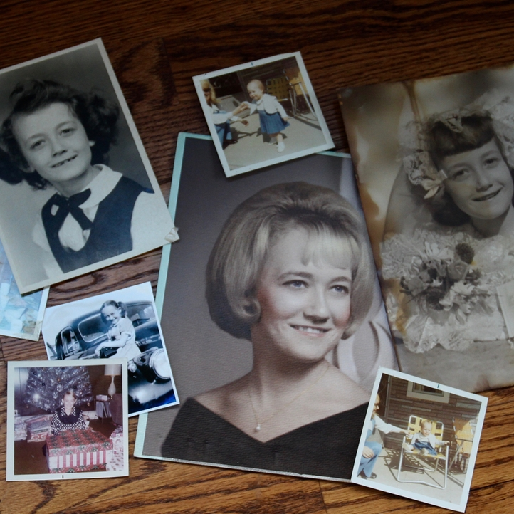 old photos used for family history storytelling