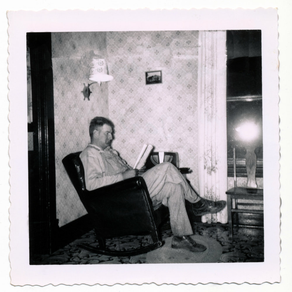 "In her family history book, Kathleen Rath Smith remembers how her father would always read in ""his"" chair next to the radio. ""When he came in, we got out of that chair!"" We used photographs to show her parents' home and surroundings, and Kathleen as narrator recounts the stories of her childhood."