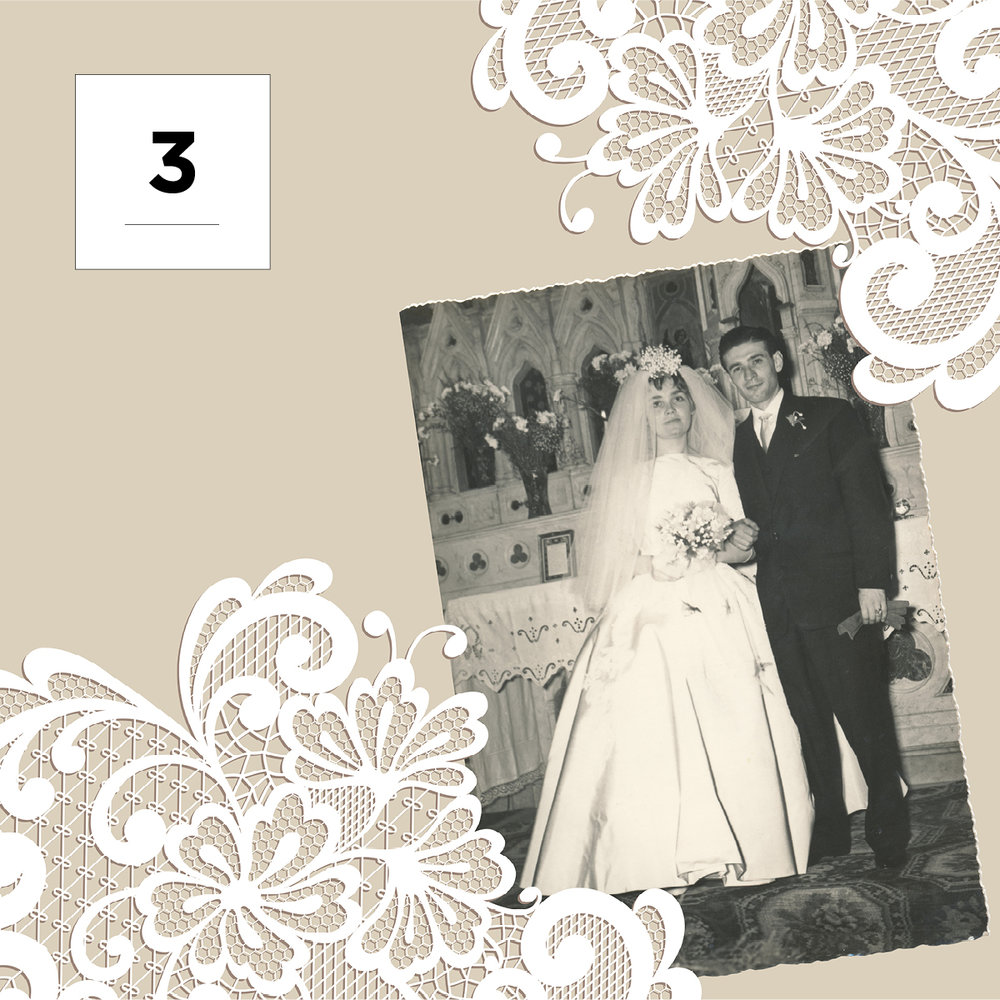 restore your parents old wedding album into a modern wedding book for mother's day
