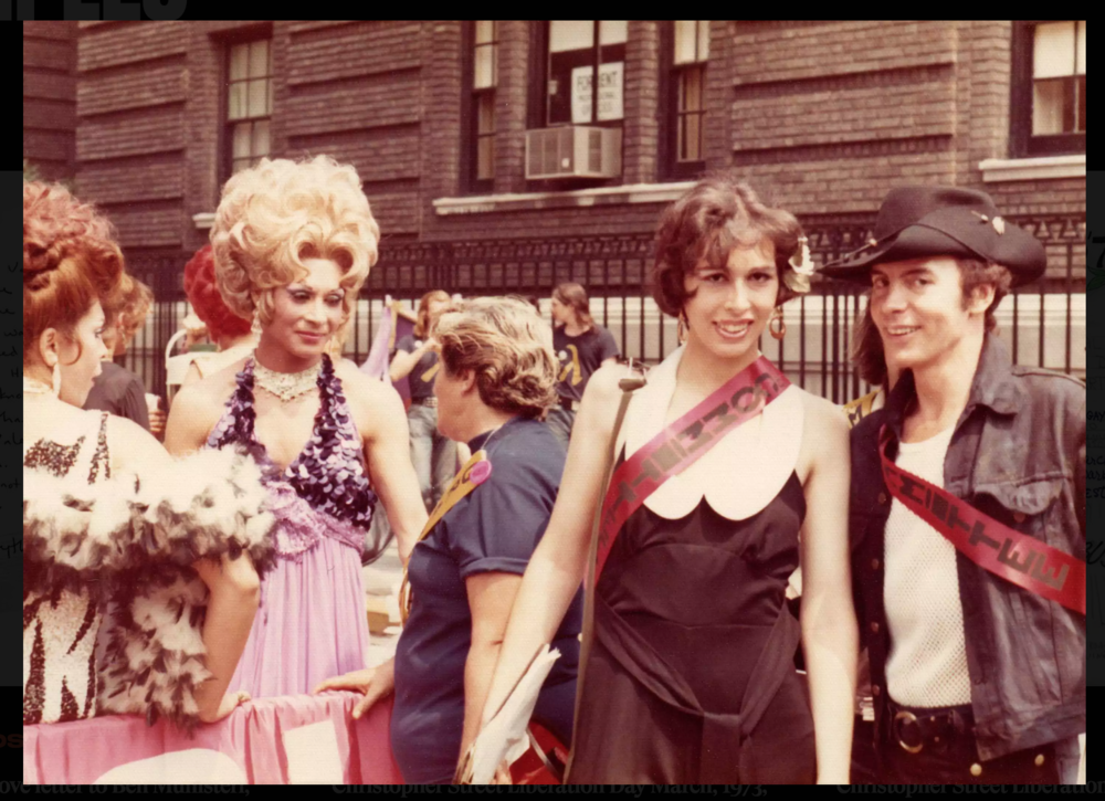 A photo of the Christopher Street Liberation Day March from the Rudy Grillo Collection, as submitted to the Stonewall Forever Project. You can help preserve the untold stories of the Stonewall Riots by donating personal photos and letters, too.