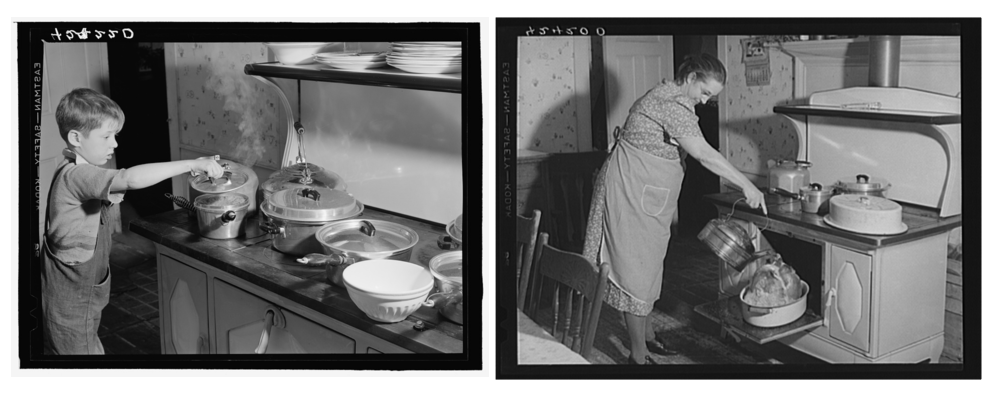 Crouch family Thanksgiving, 1940, Ledyard, Connecticut. Photographs by Jack Delano (Library of Congress).