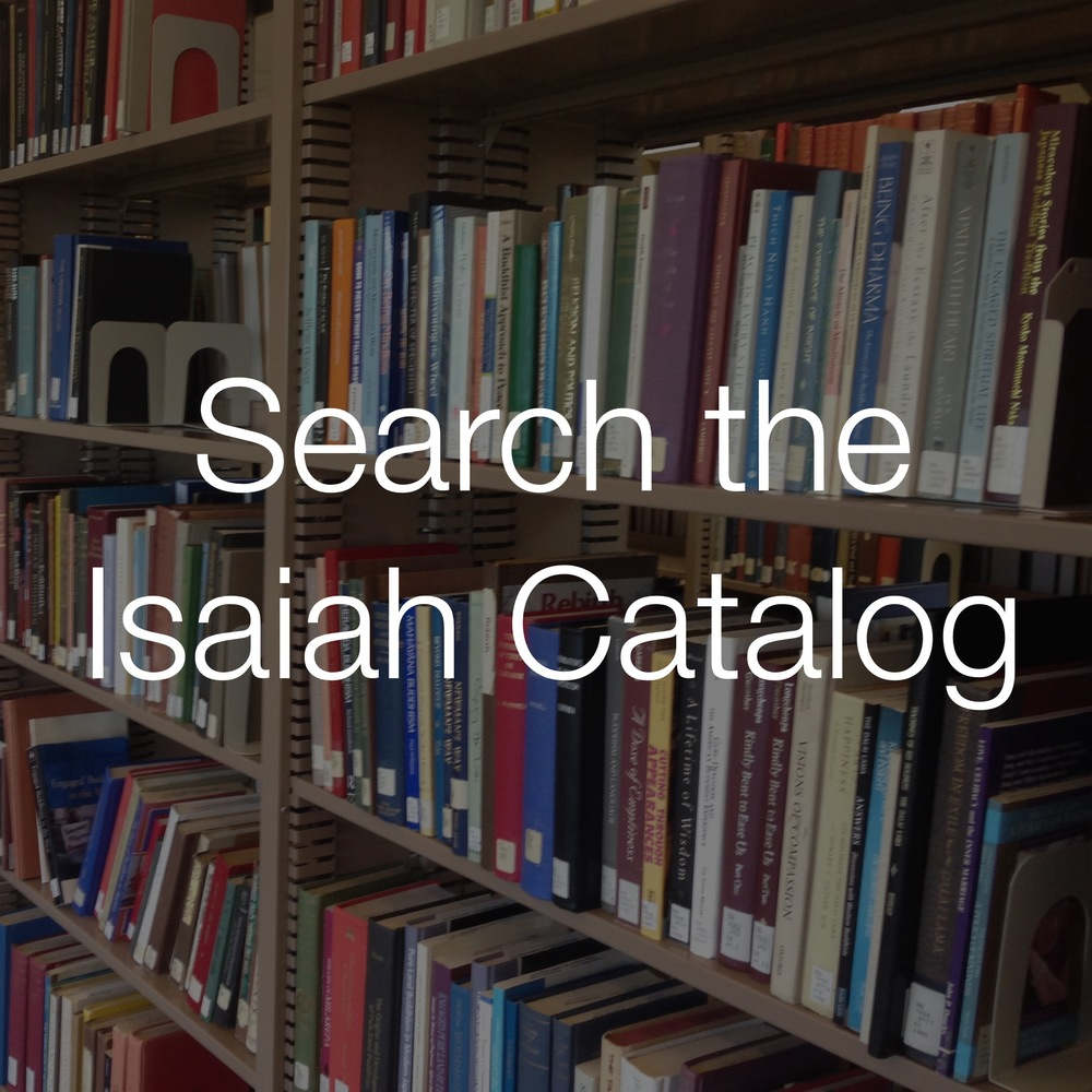 Find books focused on religion, theology, pastoral care  in Iliff's online library catalog, ISAIAH