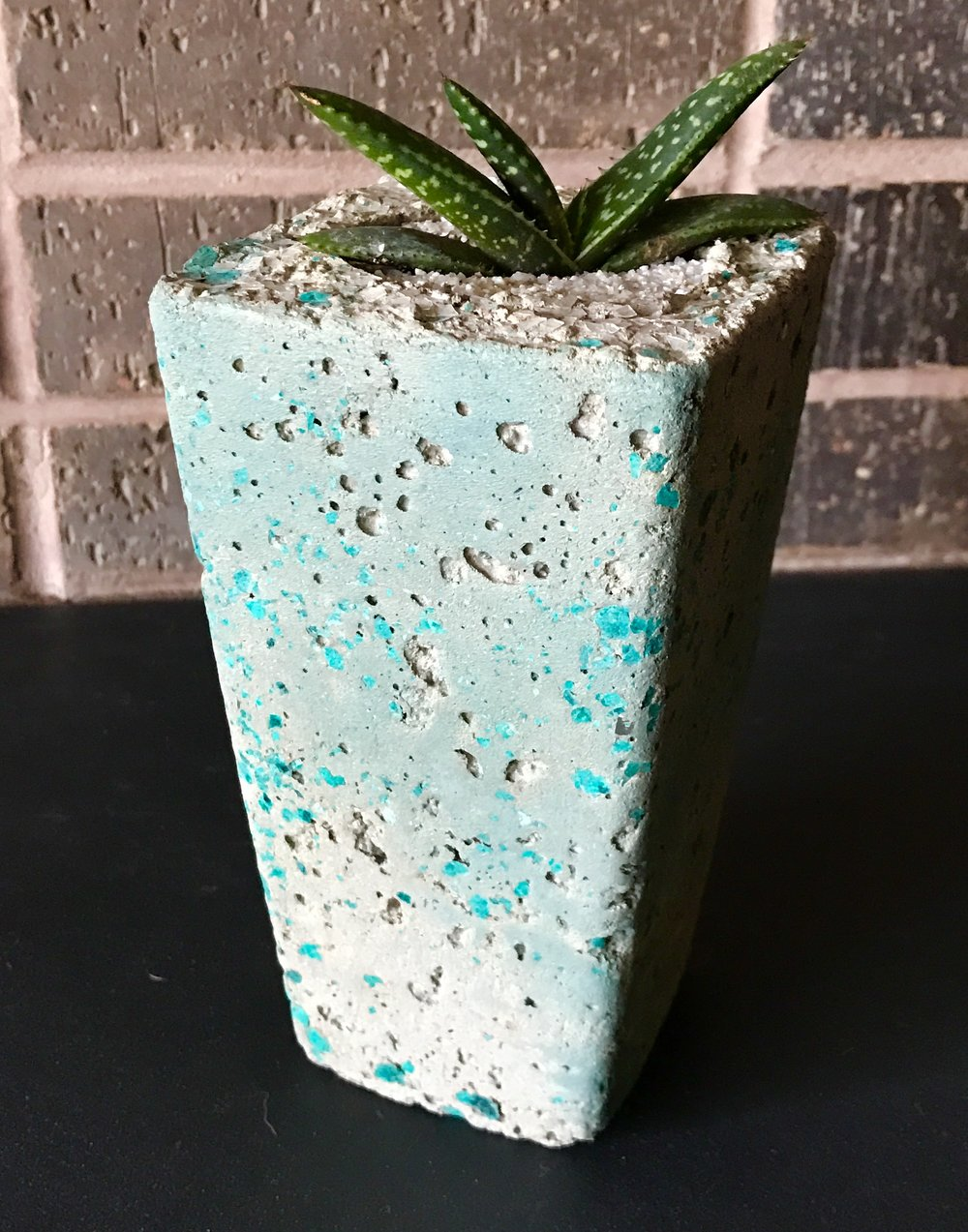 Hypertufa Column Planter
