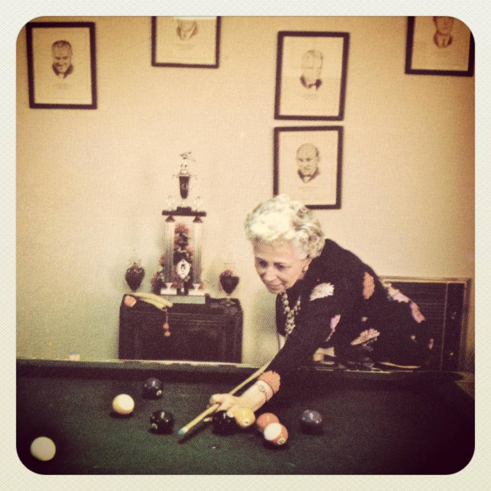 "Dorothy Wise was an American professional pool player. She was born in Spokane, Washington. When she first started playing pool professionally, there were very few national tournaments for women. Known for her demure 5'2"", 110 pound frame, the silver haired widow and grandmother was focused on taking the gambling image away from pool and focusing on the family image of the game, as she liked to point out that millions of home across America are home to pool tables. Nicknamed named ""Cool Hand Dorothy,"" Wise credited her pool playing skills to her husband, Jimmy Wise, a billiard hall owner,  who encouraged her to pick up the game when she was 30 years old. She won many local and state tournaments, and due to a lack of a US Open pool championship for women, Wise declared herself the Women's Title Winner for 15 years. The first national tournament for women happened in 1967. She won and kept winning for the next five years. She lost the title in 1972 at the age of 57 to a Jean Balukas, a 13 year old pool phenom. #Butchhistory"