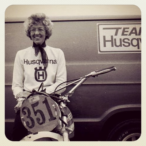"Mary McGee was born in Juneau, Alaska in 1936. She was a championship Rider and  Auto Racer. She is a pioneering woman who started road racing a Honda CB92 in the United  States in 1960. And in 1975, she rode her 250 Husqvarna solo in the Baja 500, zipping by 17  two-man teams. Prior to entering the world of motorcycling, McGee enjoyed auto racing, driving  cars that included Mercedes, Ferrari, Porsche and Jaguar. She bought her first motorcycle, a  1956 Triumph Tiger Cub, in 1957. In 1960, she started motorcycle roadracing, often switching  back and forth between the auto and roadracing circuits. It wasn't until legendary actor and racer Steve McQueen told McGee she needed to ""get off that road bike and get out to the desert,"" that she discovered her love of desert racing. At 75, Mary McGee still raced, and won. For women who want to race, she has this advice: ""If a woman is thinking about racing in any form, (she should) just do it! Get out and do it, you'll find out it's a lot of fun. The people are wonderful, it doesn't matter how fast you go, and it will add to your life."" #butchhistory"