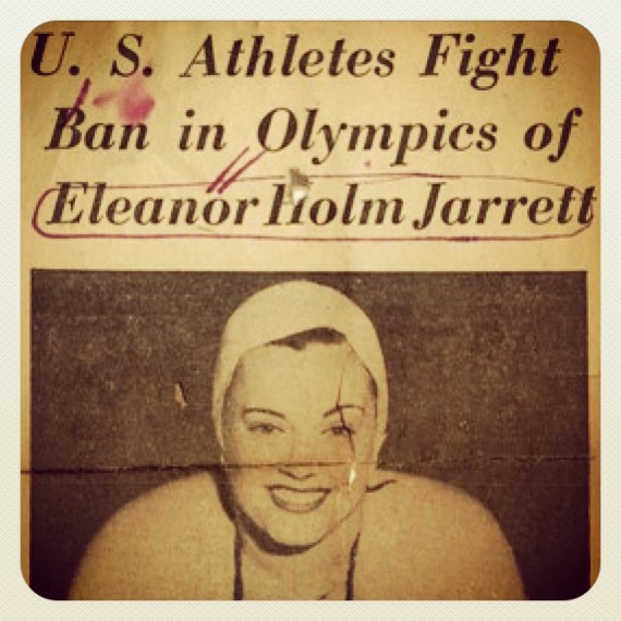 "By 1936, Eleanor Holm was one of the most famous athletes in the United States. In 1928, she joined the USA Olympic swim team in Amsterdam. By June 1932 she would go on to win the gold medal for the 100-meter backstroke and break a world record in both the 100-and 200-meter backstroke in the Los Angeles Olympics.In seven years, she did not lose one race and was expected to bring home a gold medal in the Berlin Olympics. However, on the way to Germany, aboard the ocean liner SS Manhattan, she was invited to a party in the first-class area, where she drank champagne with journalists. When curfew was called–at 9pm–she refused to turn in and asked her chaperone, ""Did you make the Olympic team, or did I?"" The chaperone promptly went to Olympic officials and told them Holm was setting a bad example for the team. When the ship reached Germany, Holm was fired. Around 200 teammates petitioned for her reinstatement, but officials stood by their decision after a doctor examined Holm and diagnosed her with chronic alcoholism–a claim she vehemently denied. Instead of returning to United States, she was hired by the International News Service to report on the games. #butchhistory"