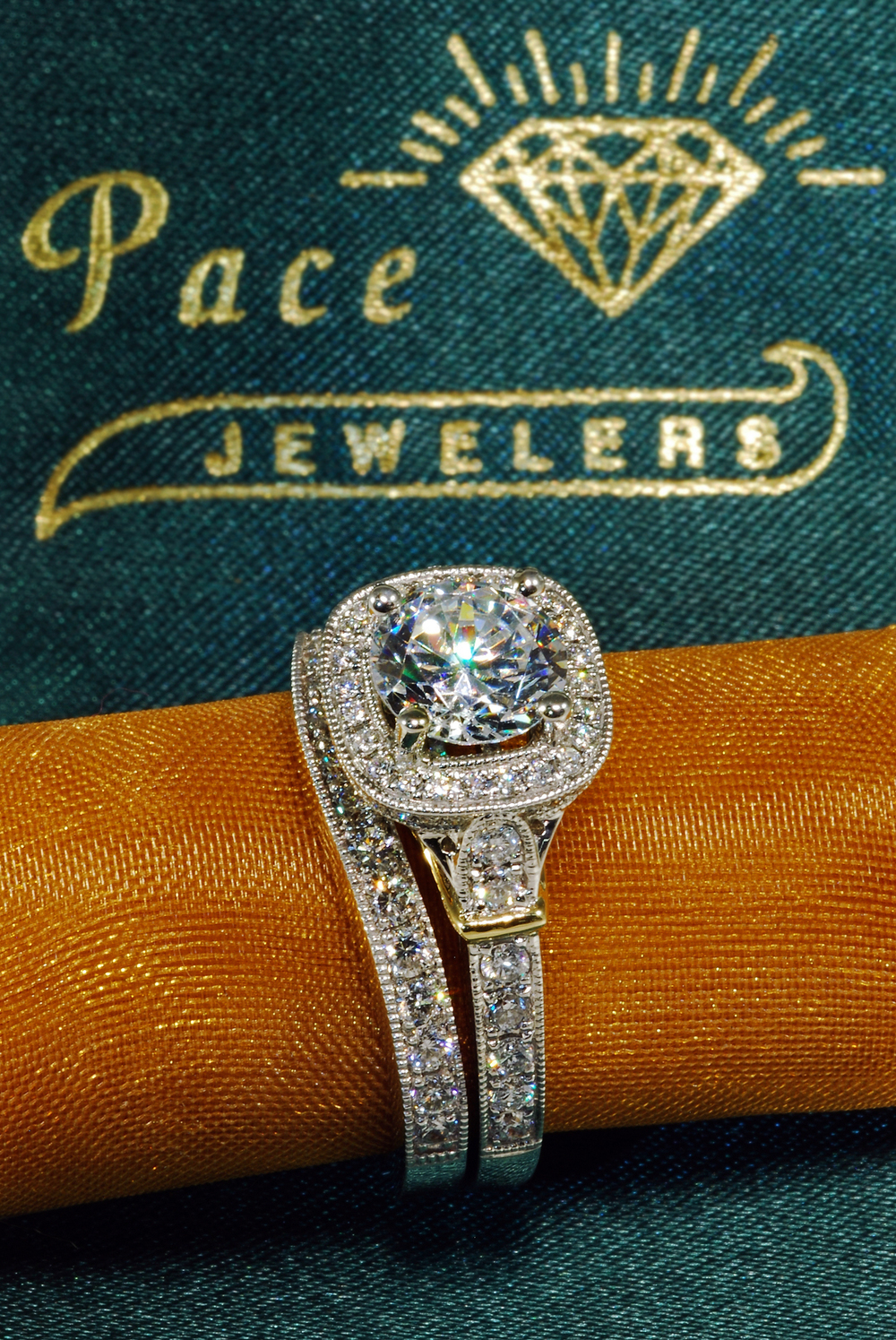 When freelancing for Pace Jeweler's I had the opportunity to shoot fine jewelry product photography. This particular image captures the beauty of the ring in the foreground while also showcasing Pace's logo on the ring box interior in the background.