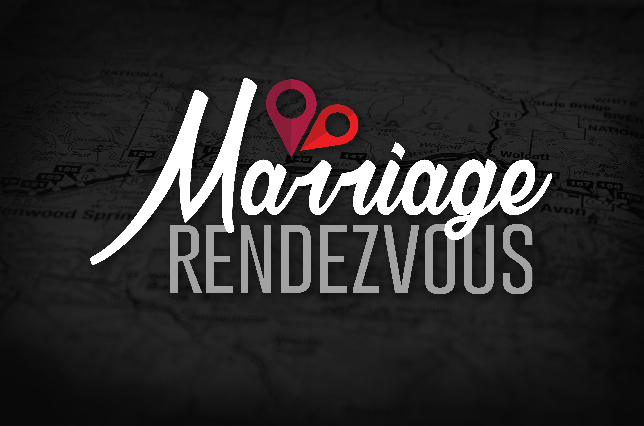 "I created this logo for Ron Carpenter Ministries' Marriage Rendezvous event. The design is based off of the the definition of the word ""rendezvous;"" a French term meaning, "" a location where two meet."" Being a marriage conference, I wanted to include a romantic aspect in the logo, hence the heart- which is comprised of two location drop pins. So the icon literally illustrates a point where two meet."