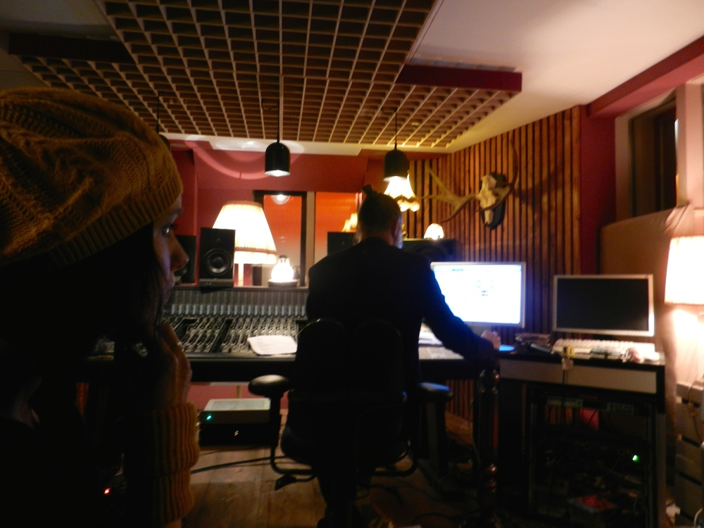 recording vocals for Countermove at  http://www.nopussybluesstudio.com/