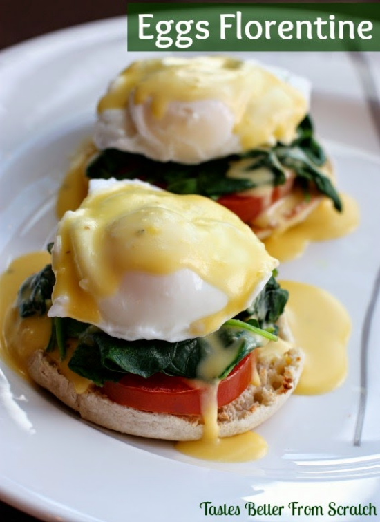 A meatless Eggs Benedict with a spinach twist.