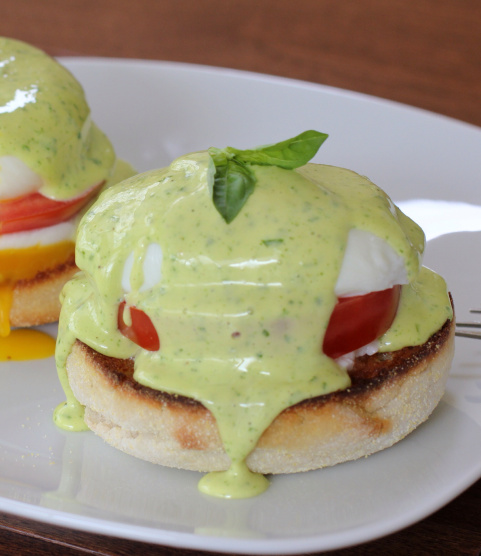 That basil hollandaise just looks heavenly.
