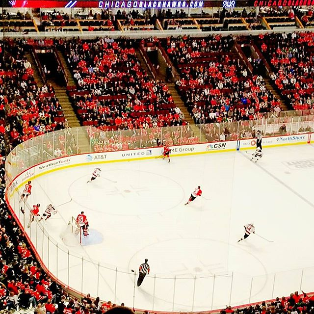 Went to my very first Blackhawks game tonight! Had a blast, even though we were 4 rows from the very top. 😄🏒 #blackhawks #thatotgoalthough