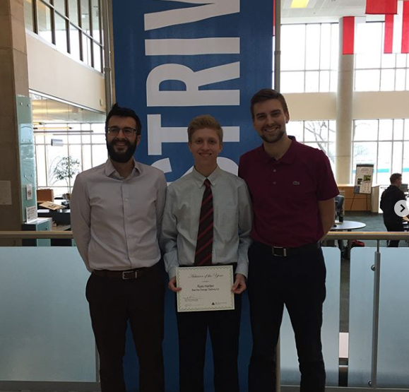 Ben (pictured left) along side fellow Advisor, Chad (pictured right) and one of their students Ryan (center).