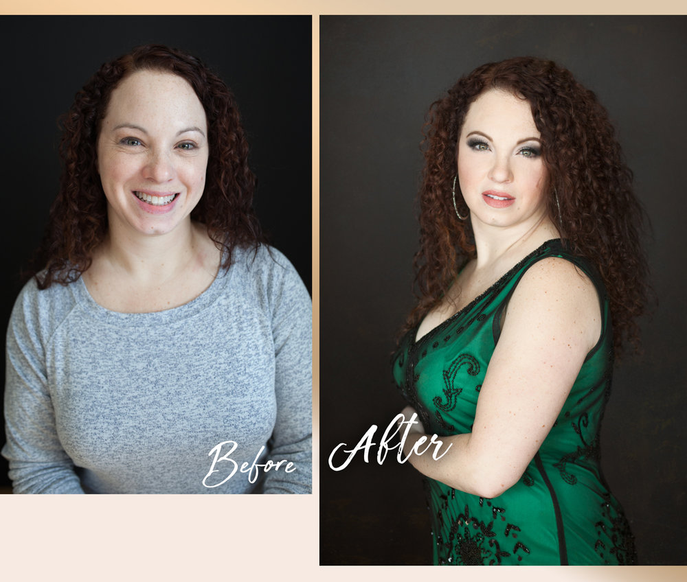 Before-After-Green Dress-Beauty
