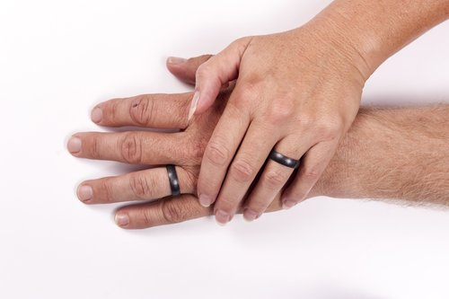 Gunmetal metallic silicone wedding ring saferingz gunmetal metallic silicone wedding ring junglespirit Image collections