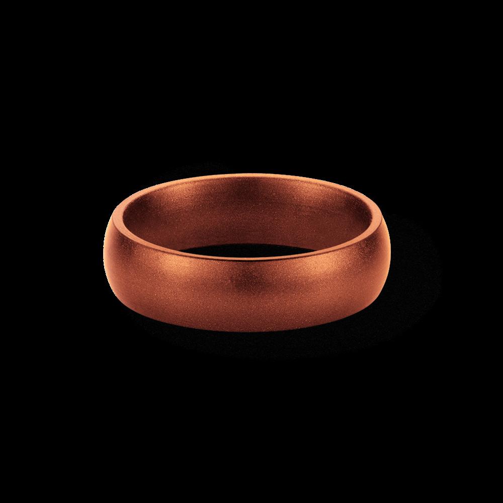 Copper Metallic Silicone Wedding Ring Saferingz