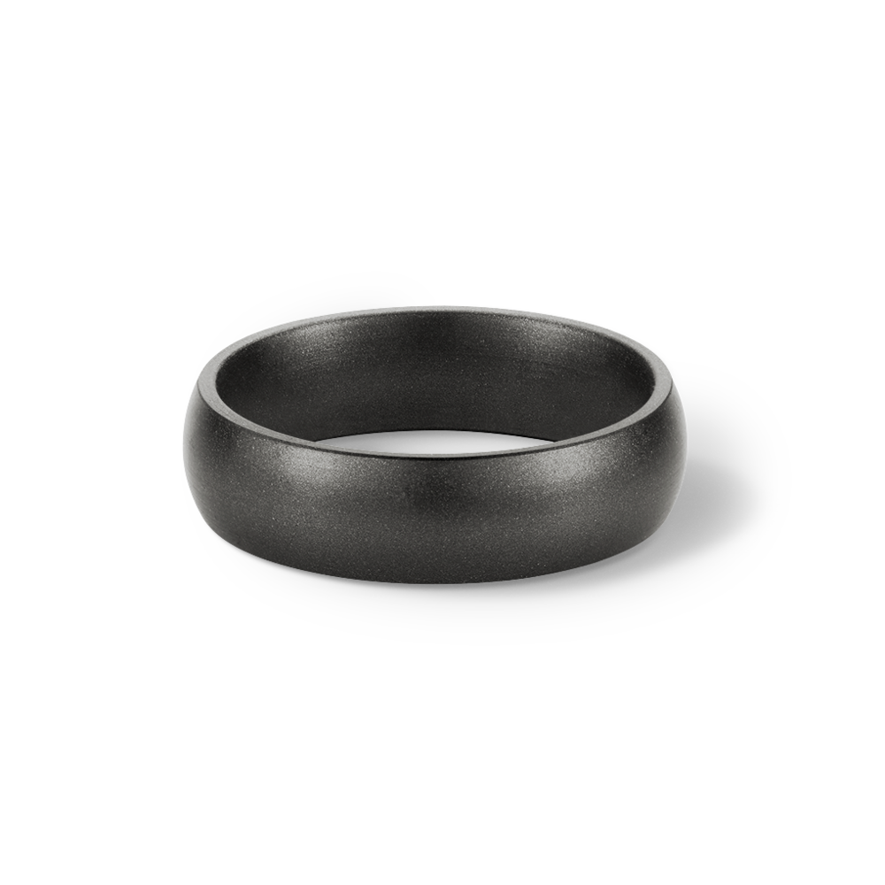 Gunmetal Metallic Silicone Wedding Ring Saferingz