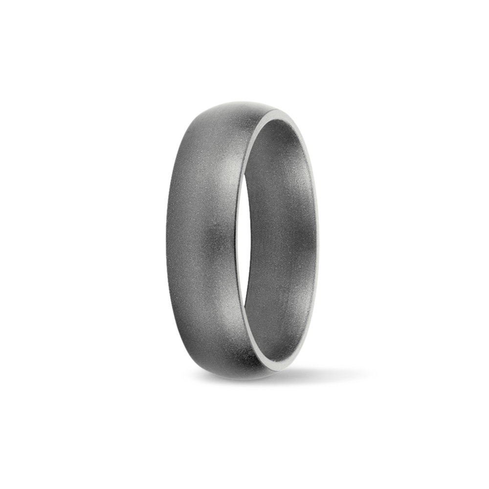 Platinum Metallic Silicone Wedding Ring Saferingz