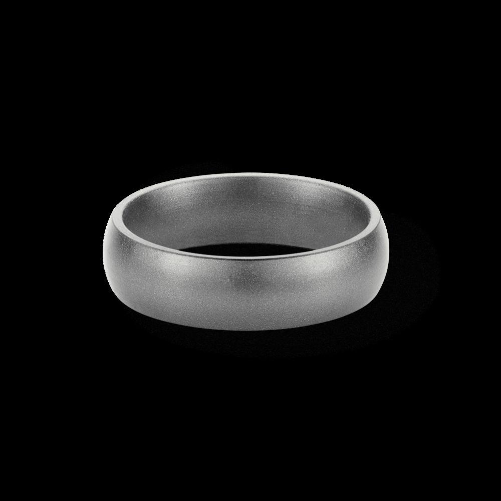 Wedding Ring Bands >> Silver Metallic Silicone Wedding Ring — SafeRingz