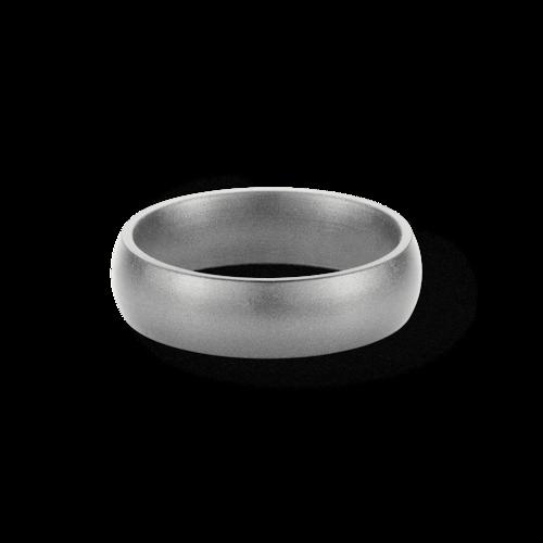 Silver Metallic Silicone Wedding Ring