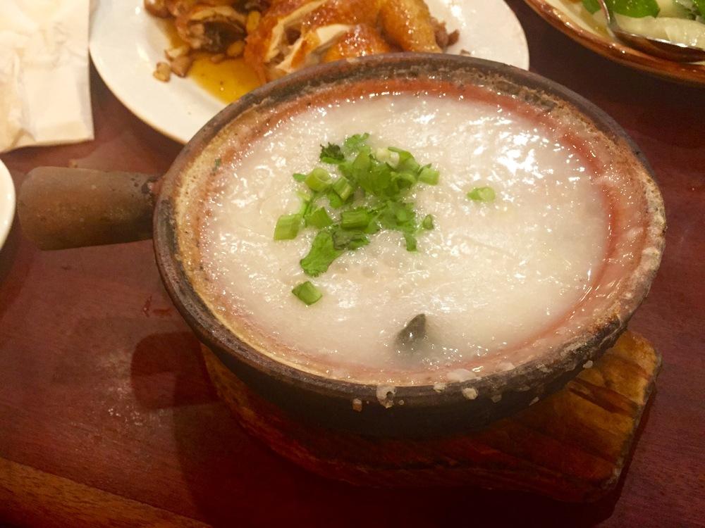 Century Egg & Pork Rice Porridge (皮蛋瘦肉粥)