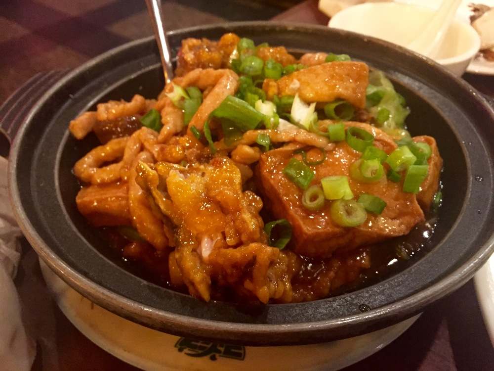 BRAised Fried Fish head with Pork In Casserole