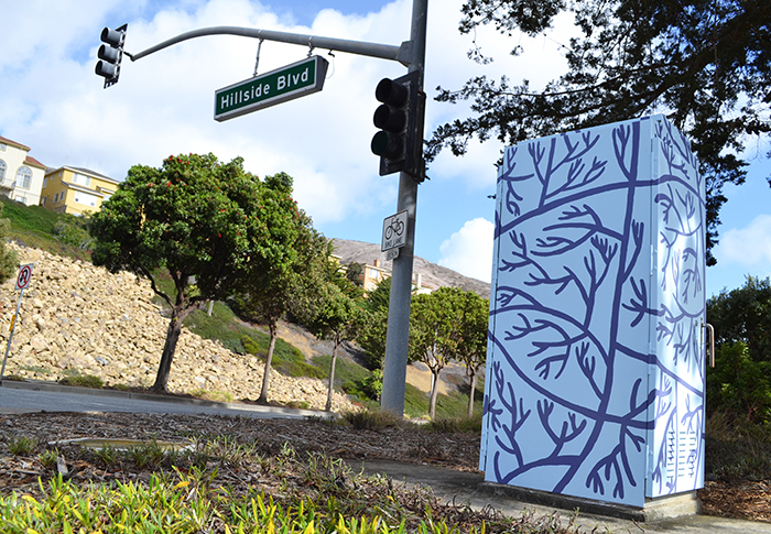 South San Francisco utility box public art.