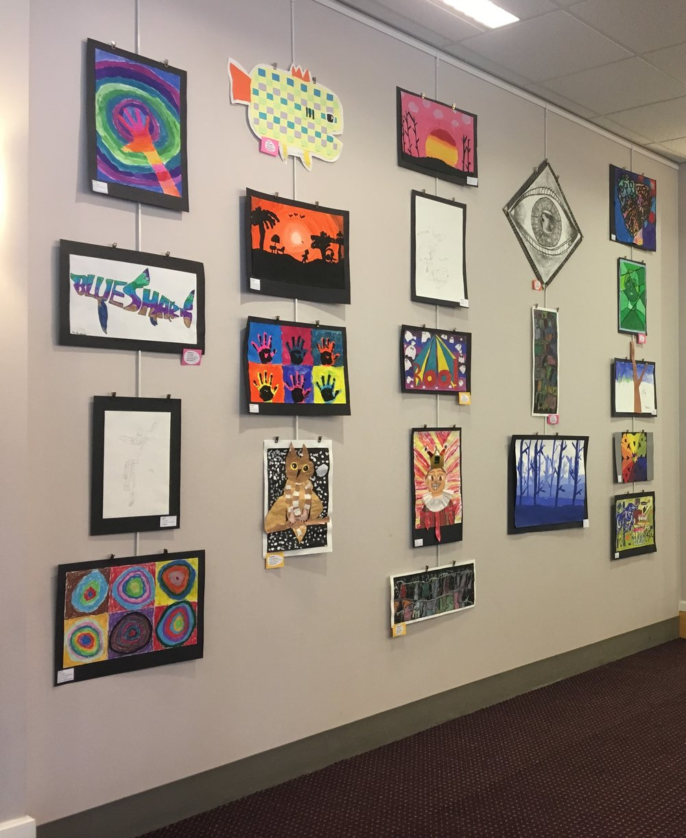Youth art at the Portsmouth Public Library