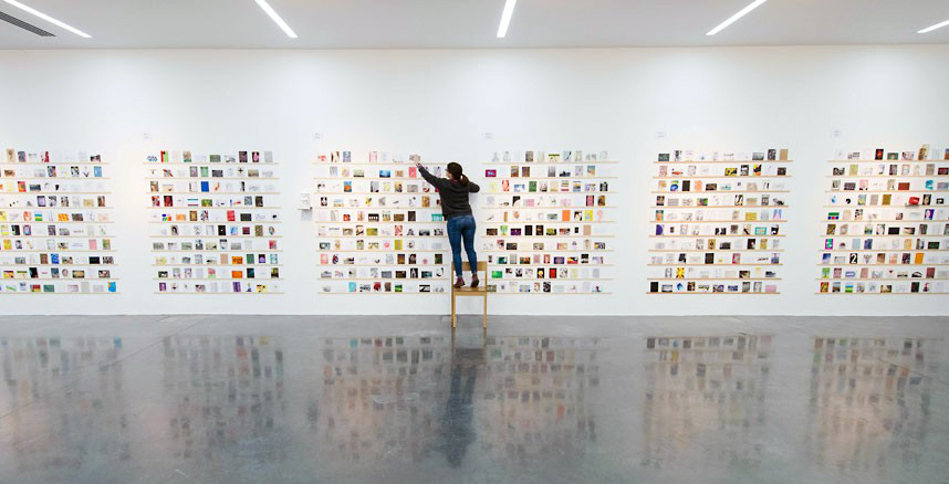 The Secret Postcard Exhibition at The Royal College of Art, London