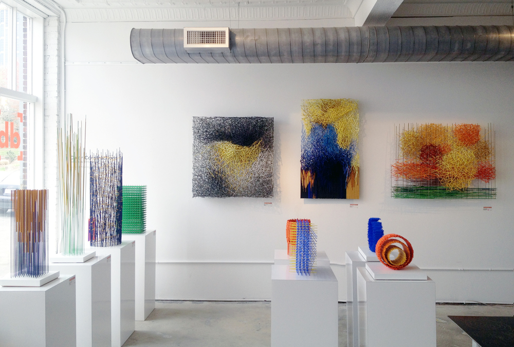 "Burton Tysinger's exhibition ""Color Constructions"" at  Designbox"