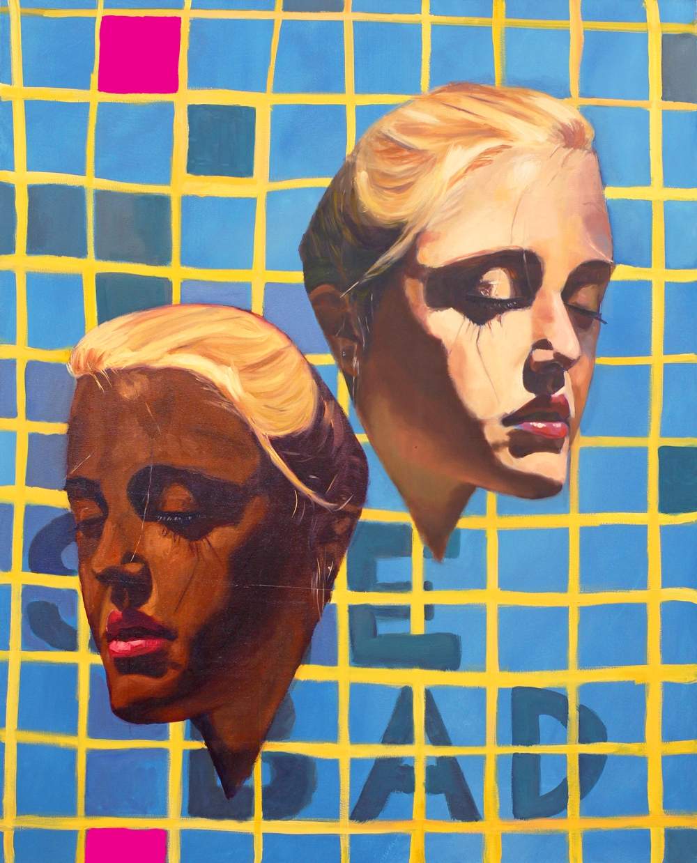 "William Paul Thomas  Blonde and Bougie  48 x 60"" Oil on canvas"
