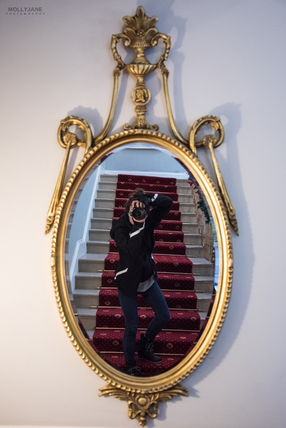 Grand staircase mirror