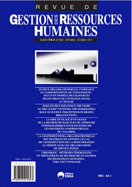 REVUE DE GESTION DES RESSOURCES HUMAINES