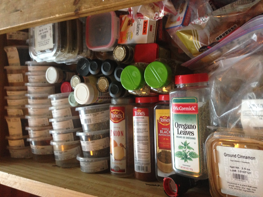 Keep your spices in a dark, dry place and clearly labeled.