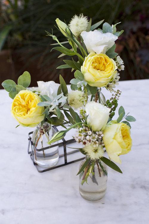 4 Bud Vases In Basket Brother Sisters Flower Shop