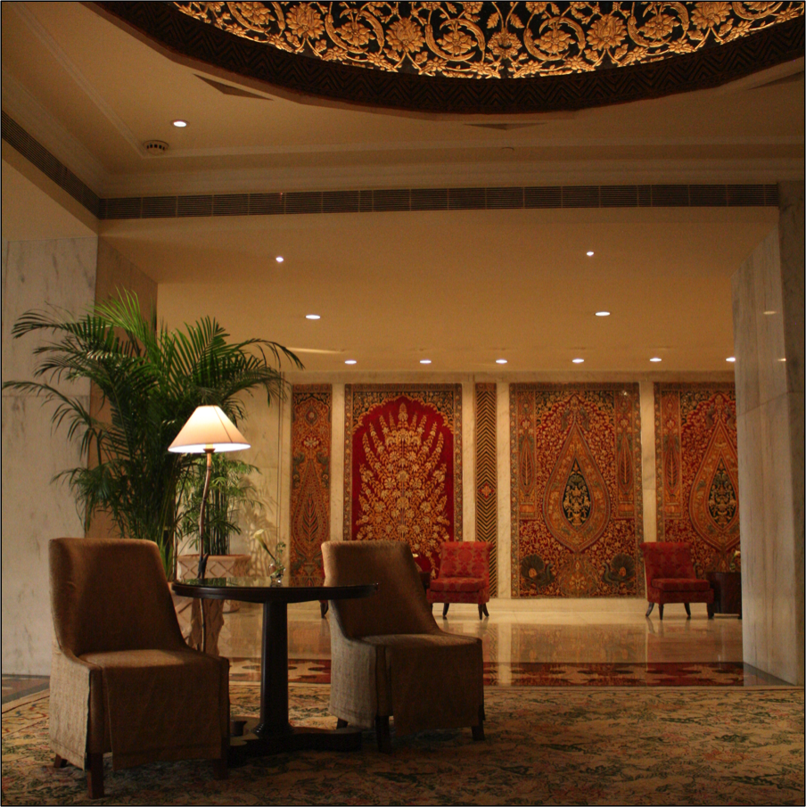 LOBBY OF TAJ HOTEL, DELHI PHOTO CREDIT: MALAVIKA GUPTA