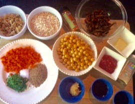 Chickpea Loaf ingredients