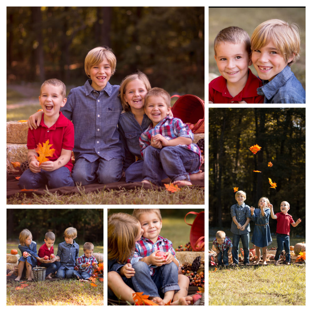 fall pitures of children at kennesaw mountain