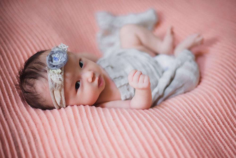 four week old newborn session in atlanta, ga