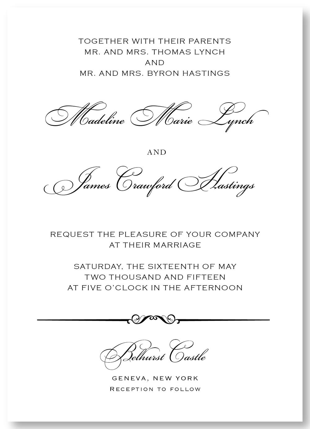 The Belhurst - Invitation