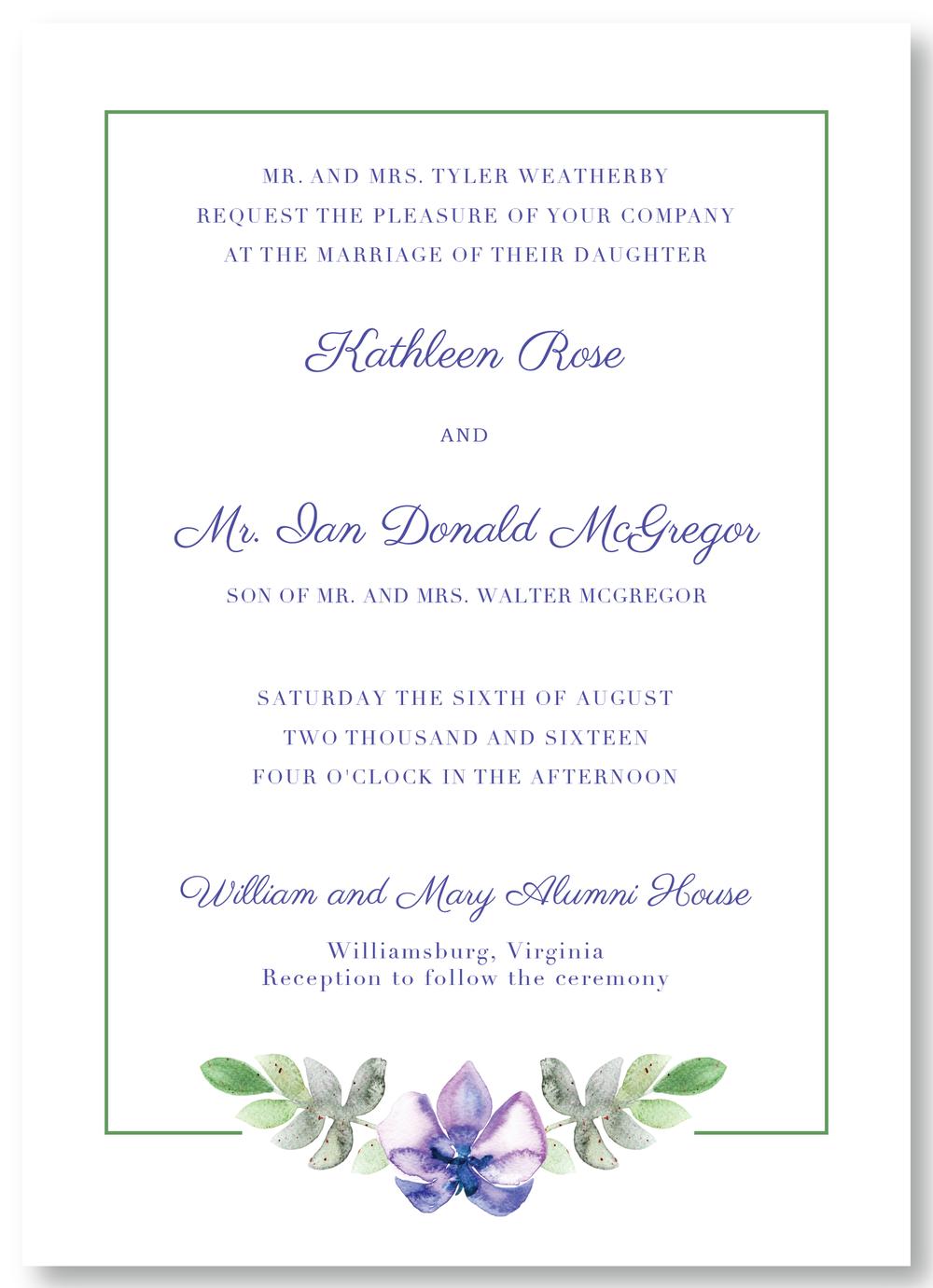 The Williamsburg - Invitation
