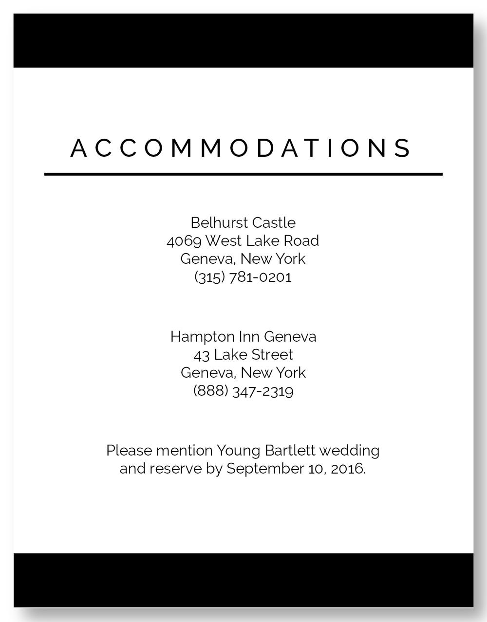 The Geneva - Accommodation Card