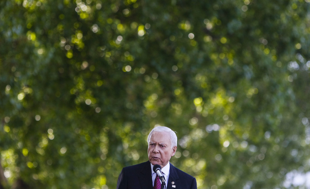 Senator Orrin Hatch gave a speech at the Memorial Day March and Ceremony that was held at Fort Douglas Cemetery in Salt Lake City, Utah, on Monday, May 30, 2016.