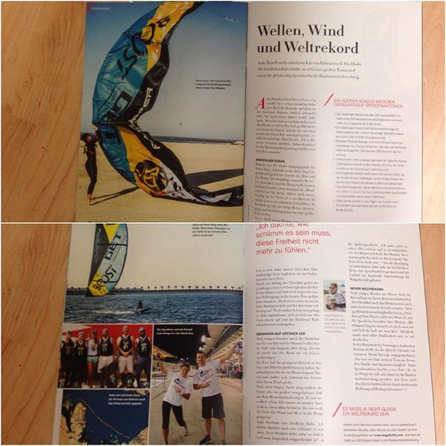 Shame about my foot and that I missed out on the Red Bull battle of the Sund.  Instead I came home to this nice surprise :) 3 pages about my recent kite trip in the Wings for life magazine.  Super stoked!  Check it out if you can 😎👍🏼 #wingsforlife #kitebeyond #GETKitemission #givesyouwings #darethelimit #kitebyond #npsurf #flysurferkiteboarding #kitegirl #kitechick #kitesurfing #worldrecord