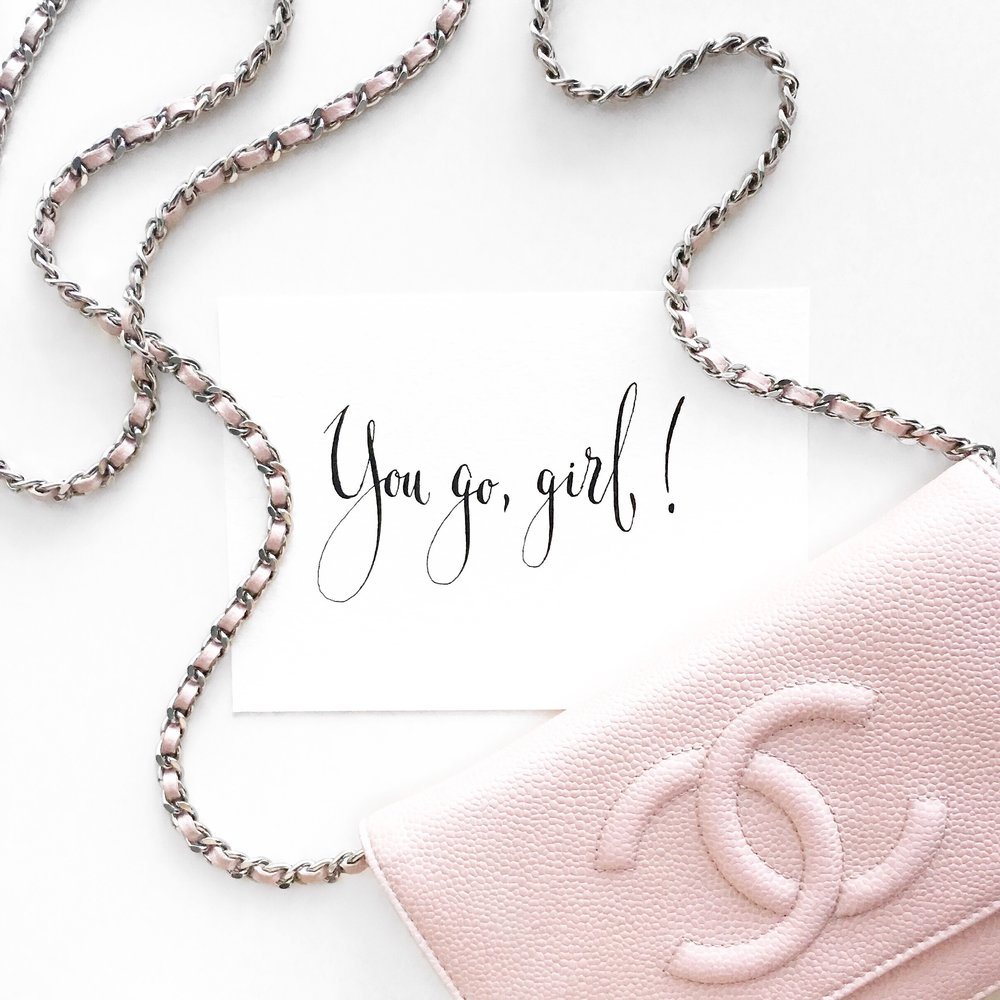 Chanel + You go, girl! + Flatlay