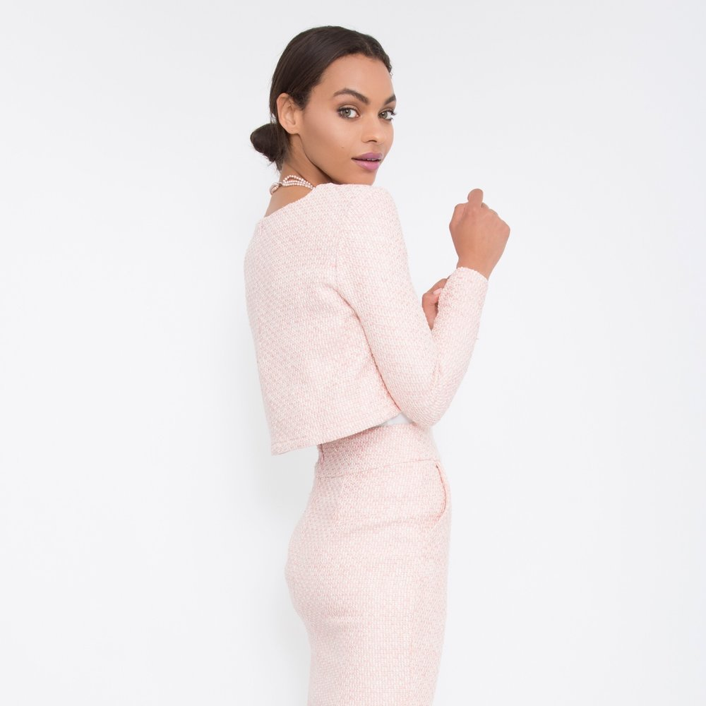 Corporate Style for Women + Pink Tweed Pencil Skirt